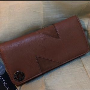 Nautica Vegan Leather Wallet w RFID Blocker